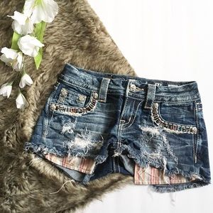 Miss Me Cut Off Jean Shorts Distressed
